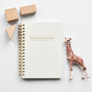 Notitieboekje Kidsquotes Blah Blah Blah linnen ivoor