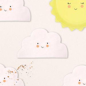 Servetten Wolken Baby Meri Meri (12st)