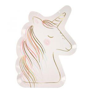 Bordjes Unicorn groot (8st) Meri Meri