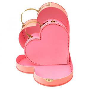 Koffertjes Heart (2st) Meri Meri