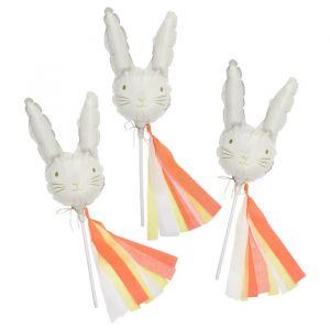 Mini folieballonnen konijnen (6st) Meri Meri