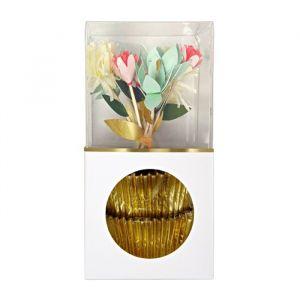 Cupcake set bloemen Meri Meri