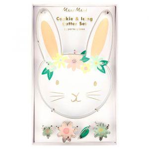 Koekjes uitstekers Floral Bunny (5st) Meri Meri
