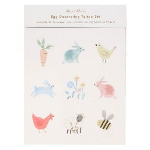 Decoratie stickers paaseieren Spring Bunny Meri Meri
