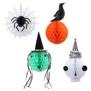 Honeycombs Vintage Halloween Heads (4st) Meri Meri
