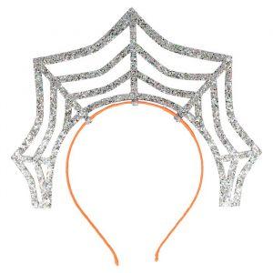 Diadeem Spinnenweb glitter zilver Meri Meri