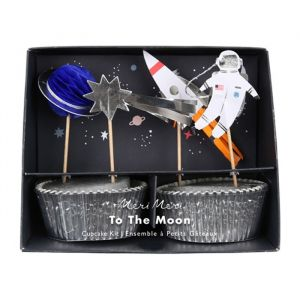 Cupcake set To The Moon Meri Meri