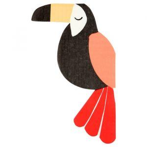 Servetten toucan Go Wild (20st) Meri Meri
