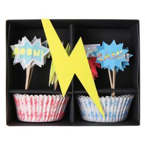 Cupcake set Super Hero Meri Meri