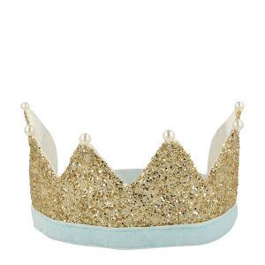 Kroon parels en gouden glitter Meri Meri