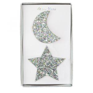 Haarclipjes ster & maan (2st) Meri Meri