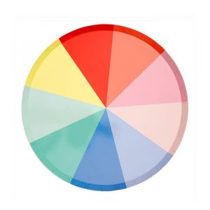 Gebaksbordjes Colour Wheel (8st) Meri Meri
