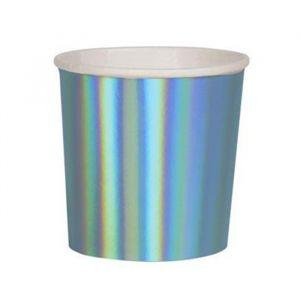 Tumblers Blue Holografisch (8st) Beautiful Basics Meri Meri