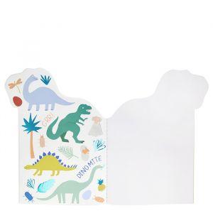 Schetsboekje met stickers Dinosaurus Meri Meri