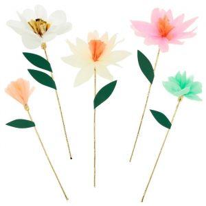 Lange prikkers bloemen Fairy (10st) Meri Meri