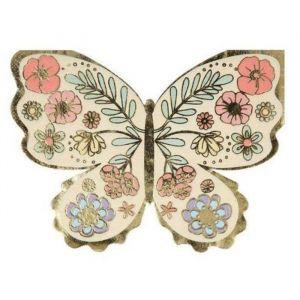 Servetten Floral Butterfly (16st) Meri Meri