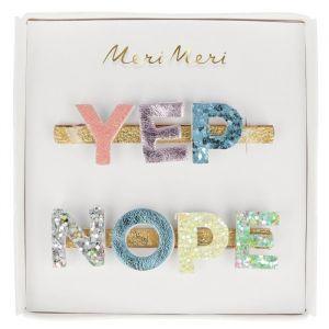 Haarclipjes Yep & Nope (2st) Meri Meri
