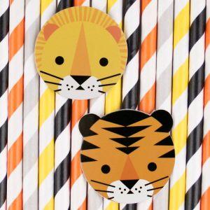 Papieren rietjes Mini Felines (12st) My Little Day