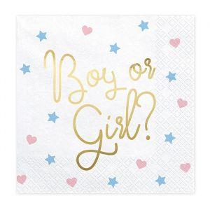 Servetten Boy or Girl? (20st)