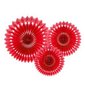 Paper Fans rood (3st)