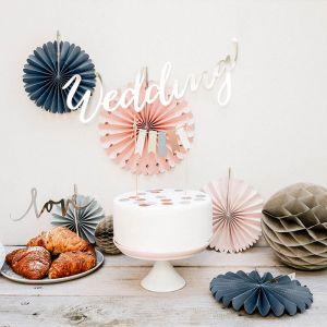 Paper Fans Elegant Bliss mix (5st)