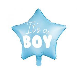Folieballon It's a Boy ster blauw (45cm)