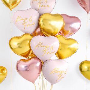 Folieballon hart roze Always & Forever (45cm)