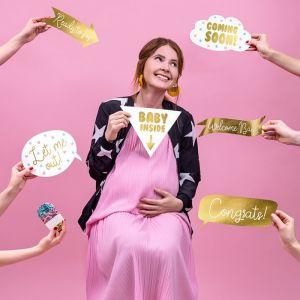 Partyprops Babyshower goud (6st)