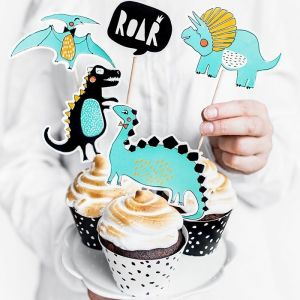 Cupcake toppers (5st) Dino Party