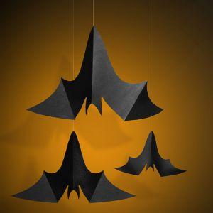 Hangdecoratie vleermuizen (3st)