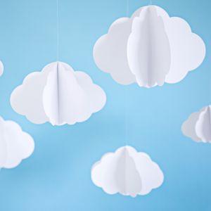 Hangdecoratie wolken (3st) Clouds