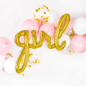 Folieballon Girl goud (77cm)