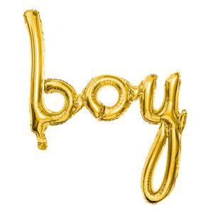 Folieballon Boy goud (63cm)