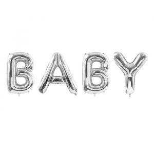 Folieballon BABY zilver