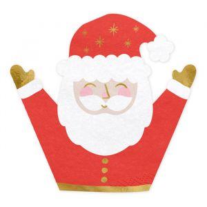 Servetten kerstman (20st) Classic Christmas