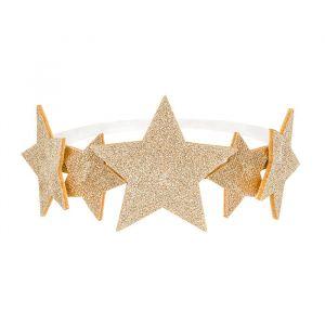 Hoofdband gouden sterren
