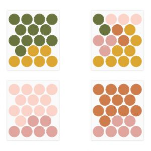 Muurstickers Dots earth mix (72st)