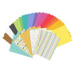 Knutselpapier bright mix (34 vellen)