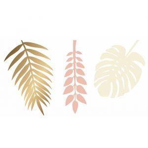 Decoratie Bladeren Gold Peach (6st)
