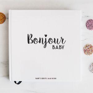 Baby's eerste jaar boek Bonjour to You