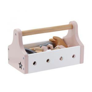 Houten gereedschapskist lichtroze Kids Concept