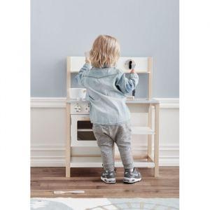 Houten keuken wit-naturel Kids Concept
