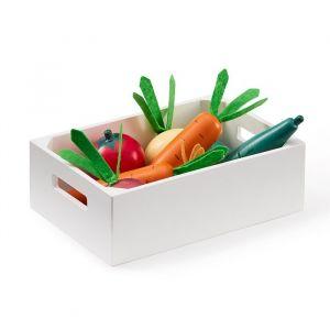 Houten kistje met groenten Kids Concept