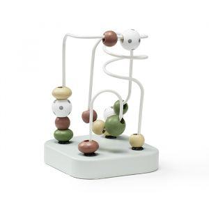 Houten spelbaan met kralen mini Edvin groen Kids Concept