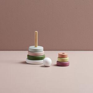 Houten stapelbare ringen Edvin mix Kids Concept