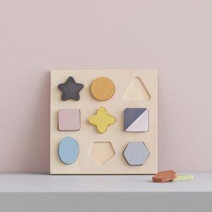 Houten puzzel Geo vormen Kids Concept