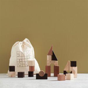 Houten bouwblokken naturel (20st) Kids Concept