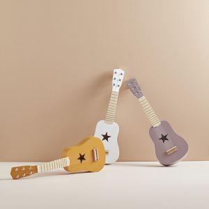 Houten gitaar okergeel Kids Concept