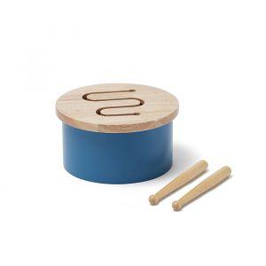 Houten trommel blauw Kids Concept