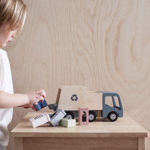 Houten vuilniswagen Aiden Kids Concept